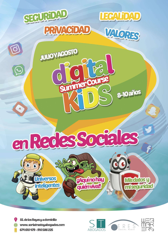 Curso de verano En Redes Sociales, para niños de 8 a 10 años.